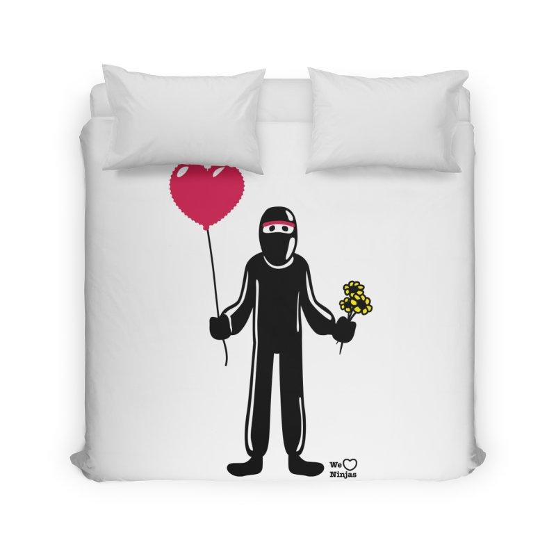 Ninja in love Home Duvet by Weheartninjas's Artist Shop