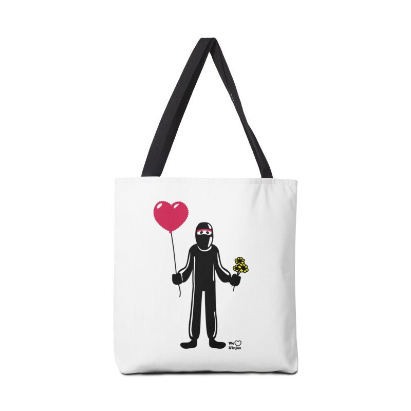 Ninja in love Accessories Tote Bag Bag by Weheartninjas's Artist Shop