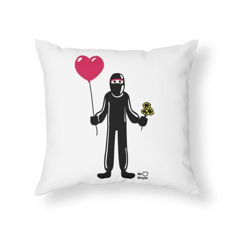 Ninja in love Home Throw Pillow by Weheartninjas's Artist Shop