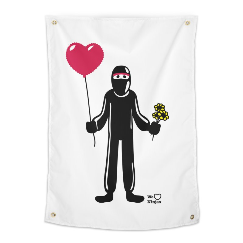 Ninja in love Home Tapestry by Weheartninjas's Artist Shop