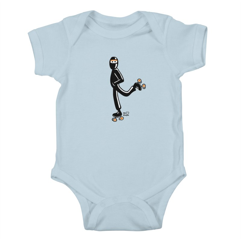 Rollerskating Kids Baby Bodysuit by Weheartninjas's Artist Shop
