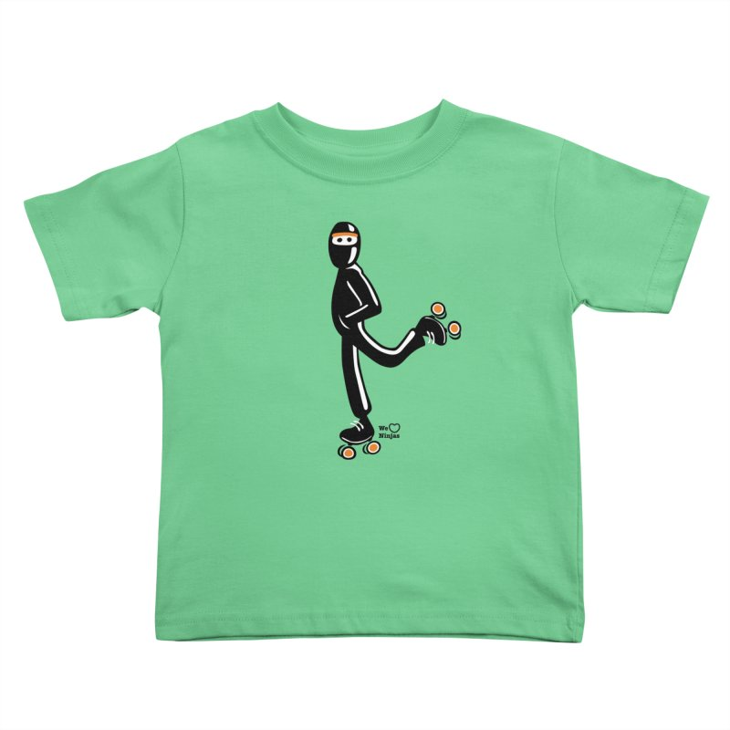 Rollerskating Kids Toddler T-Shirt by Weheartninjas's Artist Shop