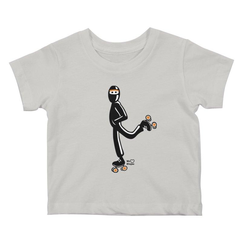 Rollerskating Kids Baby T-Shirt by Weheartninjas's Artist Shop