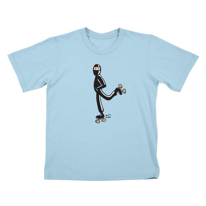 Rollerskating Kids T-Shirt by Weheartninjas's Artist Shop