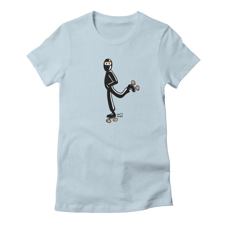 Rollerskating Women's Fitted T-Shirt by Weheartninjas's Artist Shop