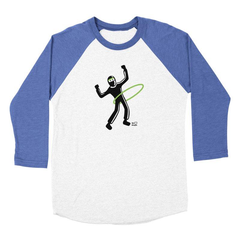 Hula Hoop Women's Baseball Triblend T-Shirt by Weheartninjas's Artist Shop