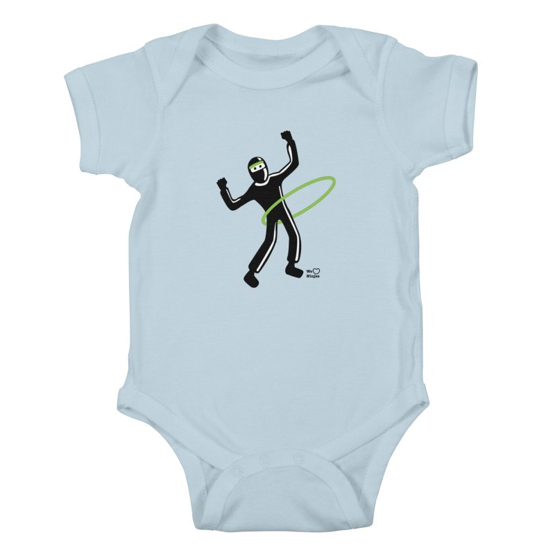 Hula Hoop Kids Baby Bodysuit by Weheartninjas's Artist Shop