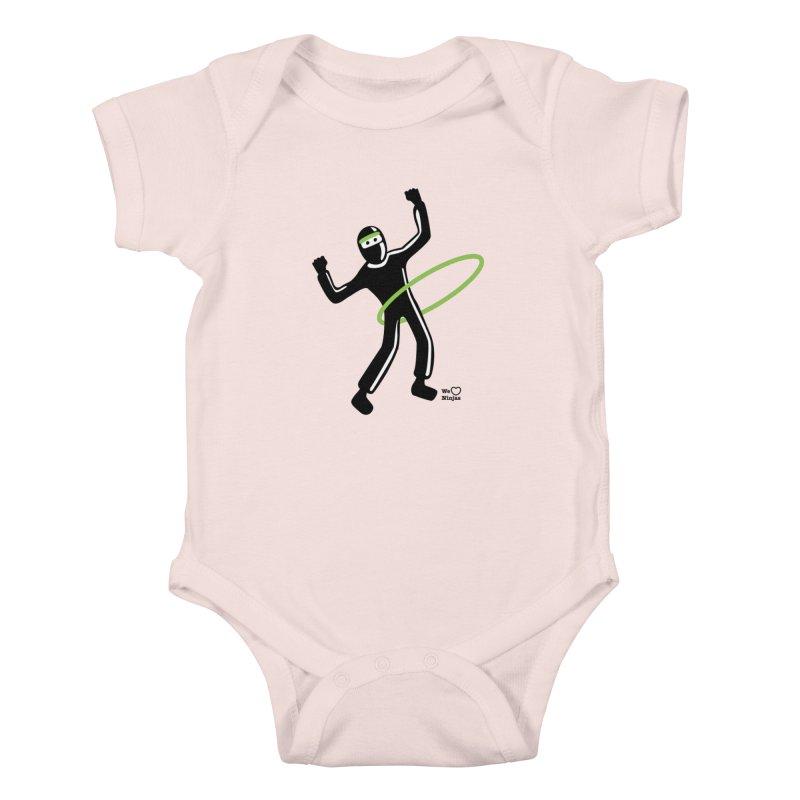 Hula Hoop Kids Baby Bodysuit by Weheartninjas's Artist Shop