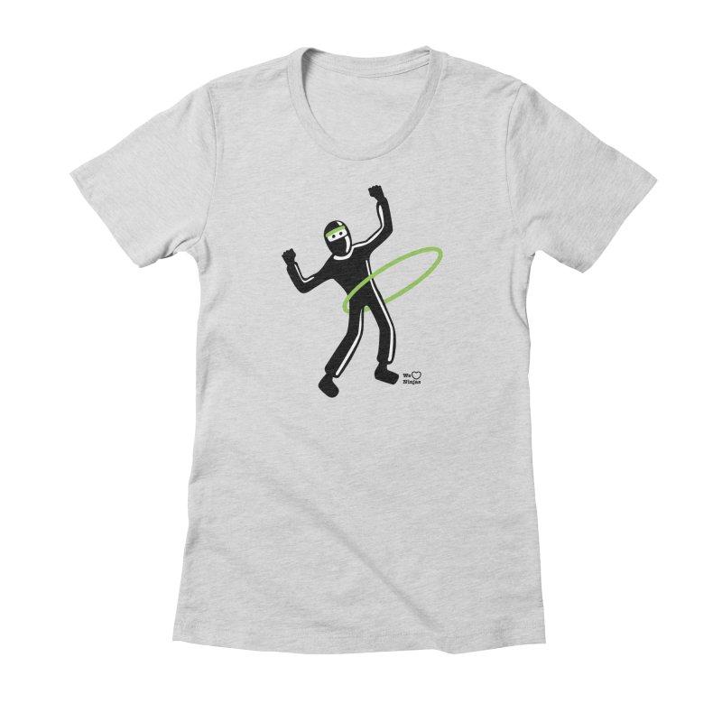 Hula Hoop Women's Fitted T-Shirt by Weheartninjas's Artist Shop