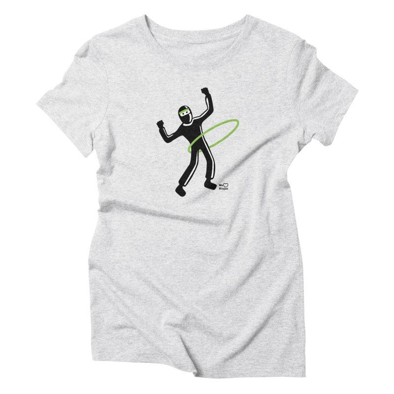 Hula Hoop Women's Triblend T-Shirt by Weheartninjas's Artist Shop