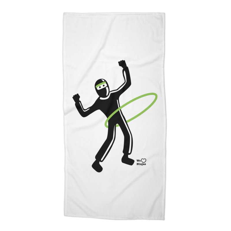 Hula Hoop Accessories Beach Towel by Weheartninjas's Artist Shop