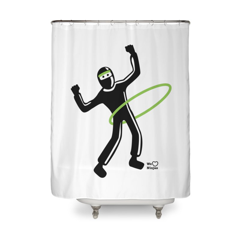 Hula Hoop Home Shower Curtain by Weheartninjas's Artist Shop