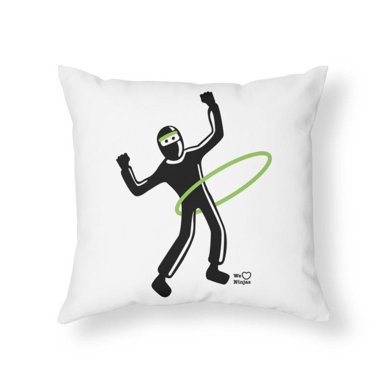 Hula Hoop Home Throw Pillow by Weheartninjas's Artist Shop