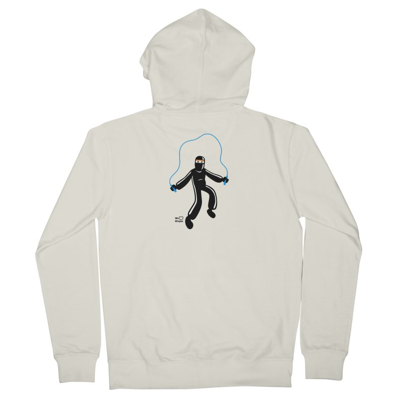 Skipping Rope Women's French Terry Zip-Up Hoody by Weheartninjas's Artist Shop