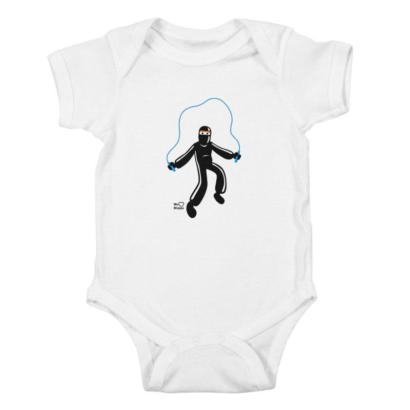 Skipping Rope Kids Baby Bodysuit by Weheartninjas's Artist Shop