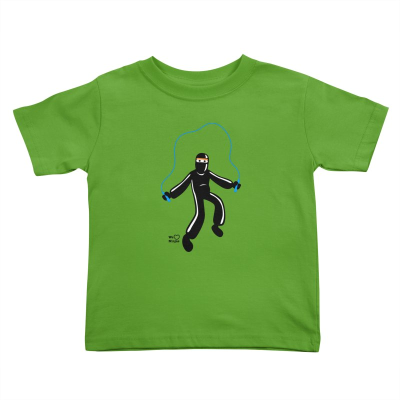 Skipping Rope Kids Toddler T-Shirt by Weheartninjas's Artist Shop