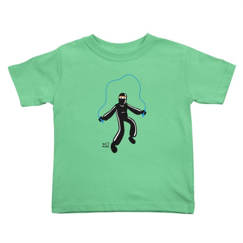 Skipping Rope Kids Toddler T-Shirt by Weheartninjas's Artist Shop