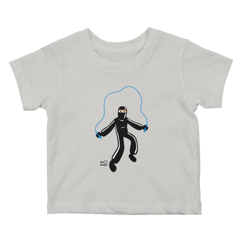 Skipping Rope Kids Baby T-Shirt by Weheartninjas's Artist Shop