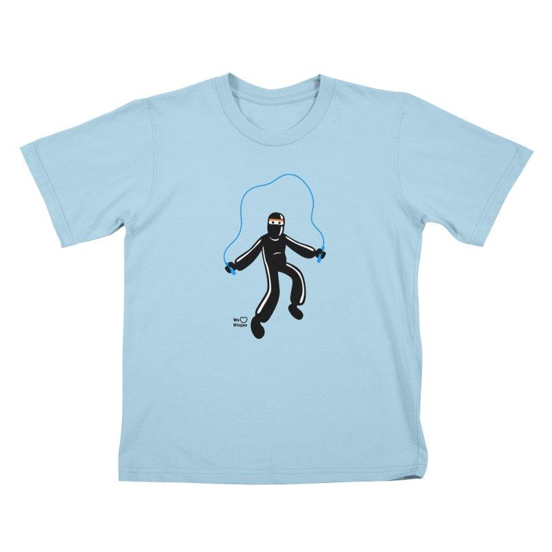 Skipping Rope Kids T-Shirt by Weheartninjas's Artist Shop