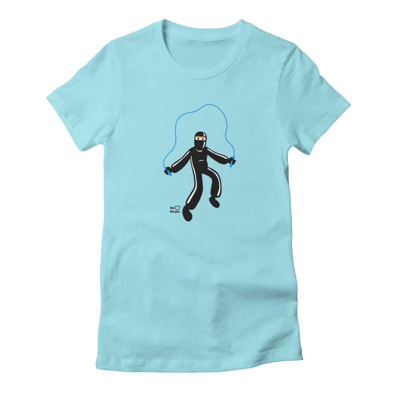 Skipping Rope Women's Fitted T-Shirt by Weheartninjas's Artist Shop