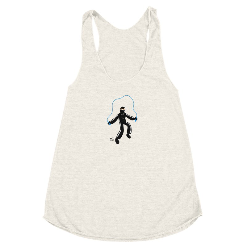 Skipping Rope Women's Racerback Triblend Tank by Weheartninjas's Artist Shop