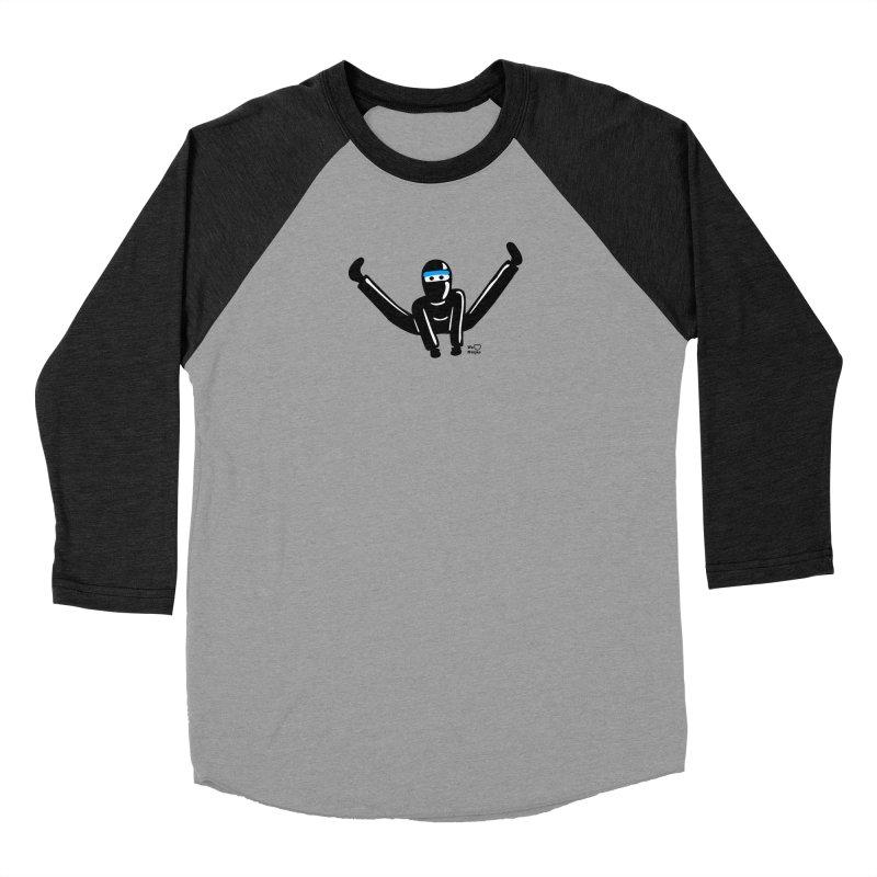Ninja split kick! Women's Longsleeve T-Shirt by Weheartninjas's Artist Shop
