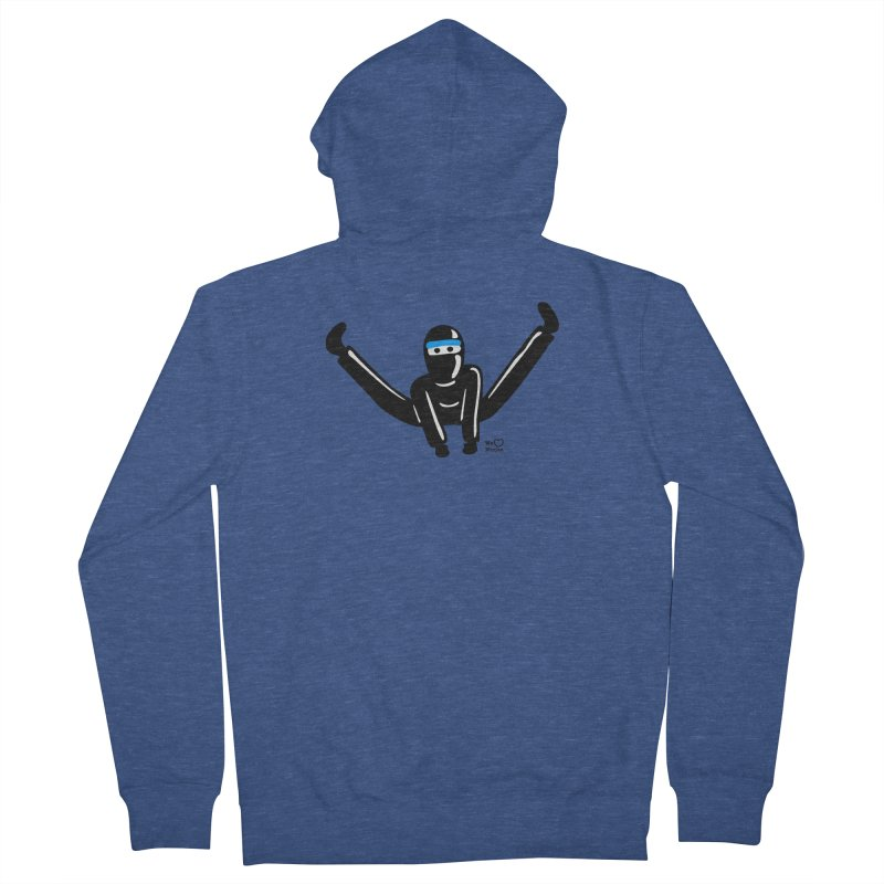 Ninja split kick! Men's French Terry Zip-Up Hoody by Weheartninjas's Artist Shop
