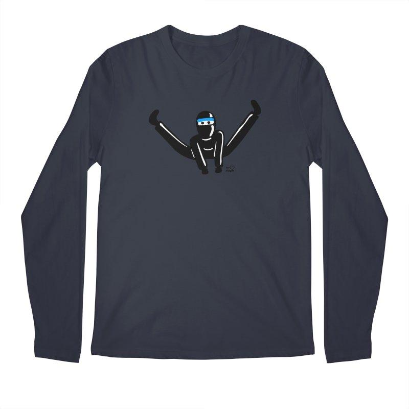 Ninja split kick! Men's Regular Longsleeve T-Shirt by Weheartninjas's Artist Shop