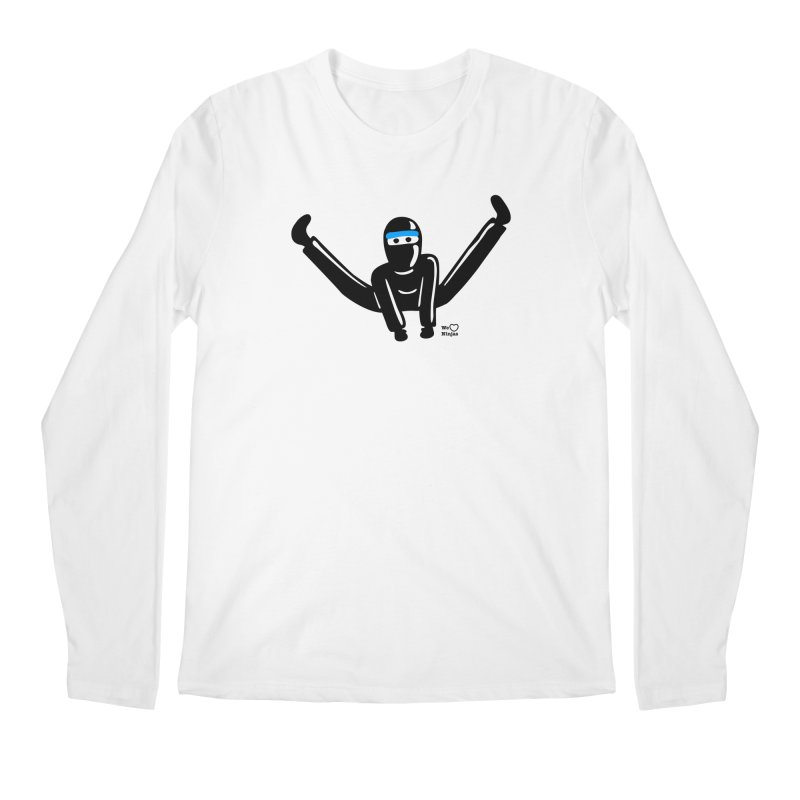 Ninja split kick! Men's Longsleeve T-Shirt by Weheartninjas's Artist Shop