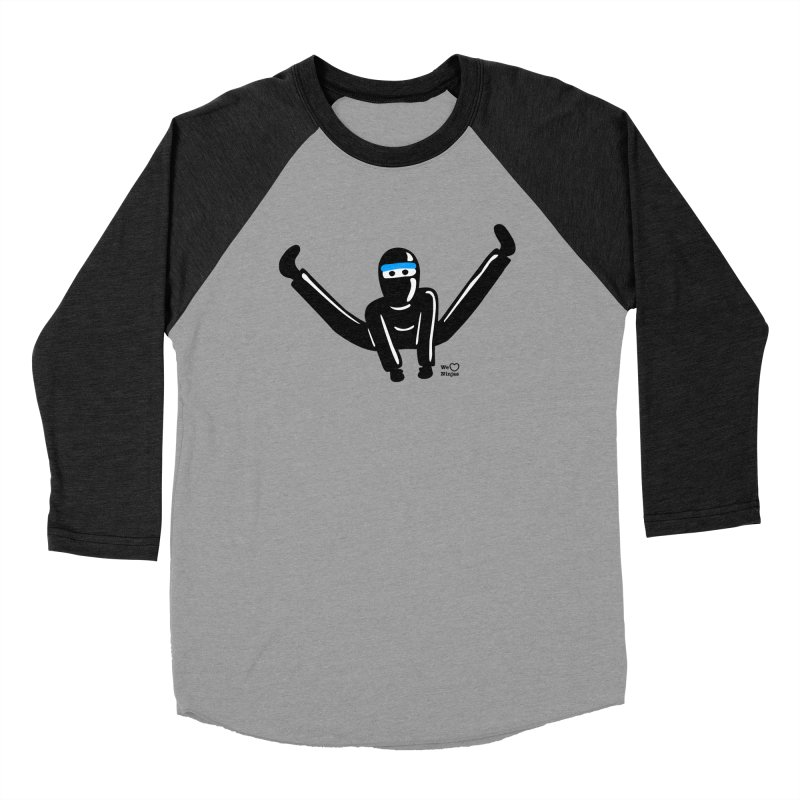 Ninja split kick! Men's Baseball Triblend Longsleeve T-Shirt by Weheartninjas's Artist Shop