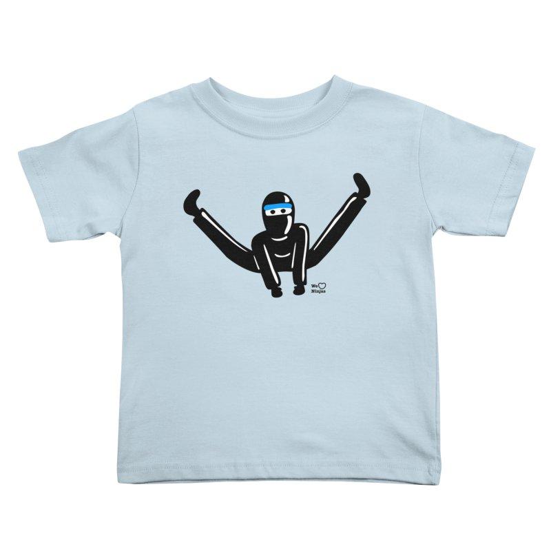 Ninja split kick! Kids Toddler T-Shirt by Weheartninjas's Artist Shop