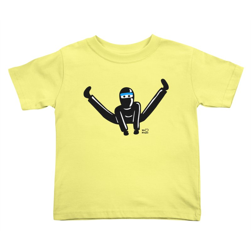 Ninja split kick! Kids Toddler T-Shirt by Weheartninjas's Artist Shop