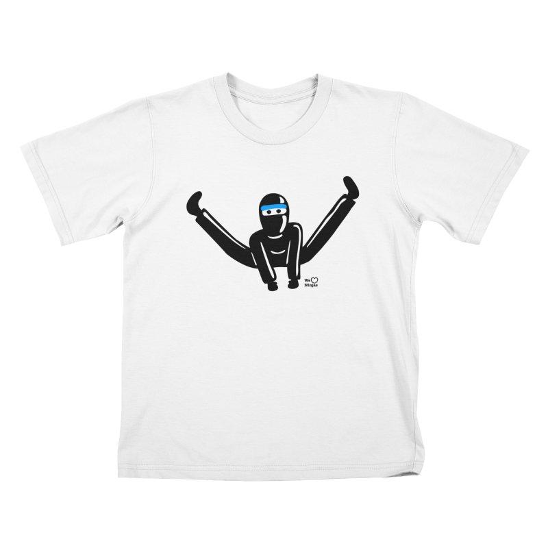 Ninja split kick! Kids T-Shirt by Weheartninjas's Artist Shop