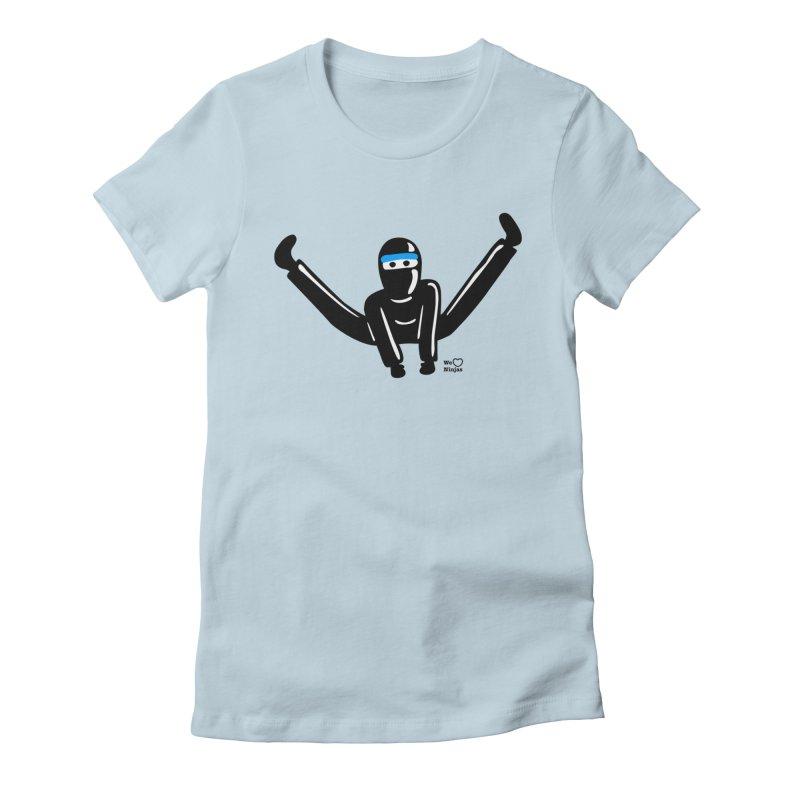 Ninja split kick! Women's T-Shirt by Weheartninjas's Artist Shop