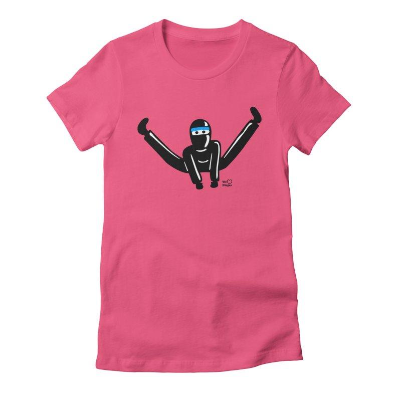 Ninja split kick! Women's Fitted T-Shirt by Weheartninjas's Artist Shop