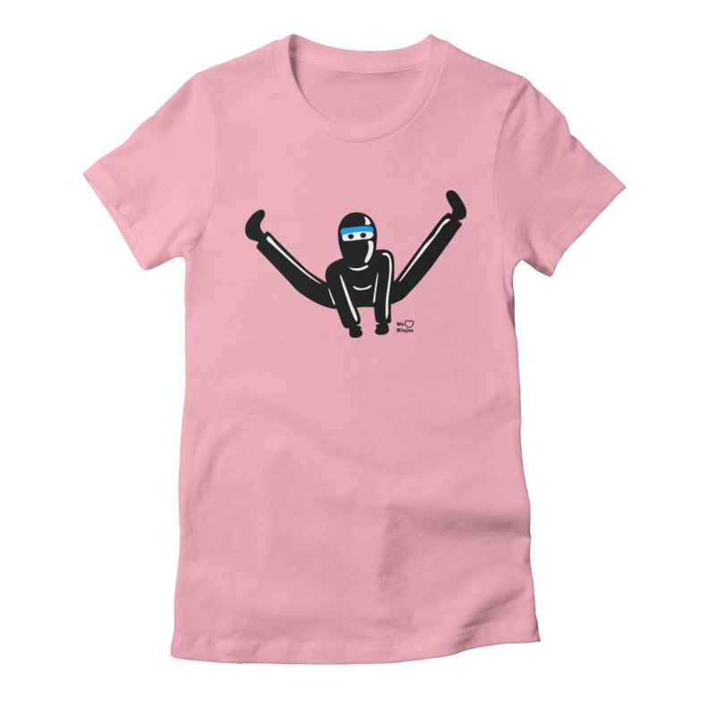 Ninja split kick! Women's Fitted T-Shirt by Weheartninjas's Artist Shop