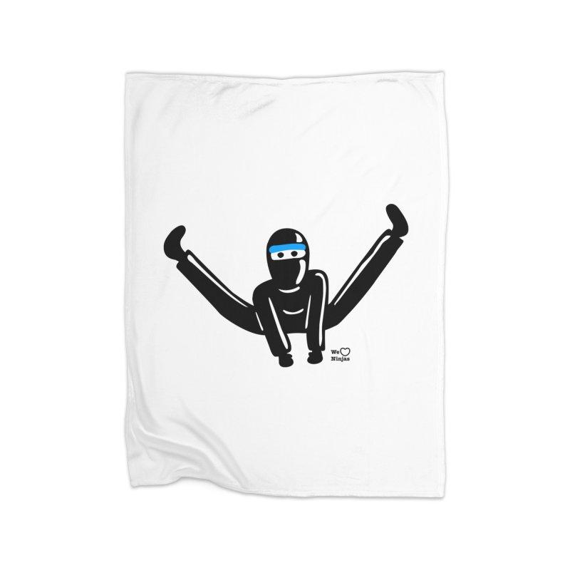 Ninja split kick! Home Blanket by Weheartninjas's Artist Shop