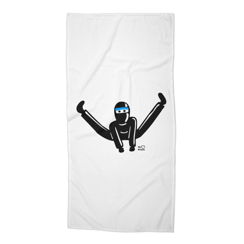 Ninja split kick! Accessories Beach Towel by Weheartninjas's Artist Shop
