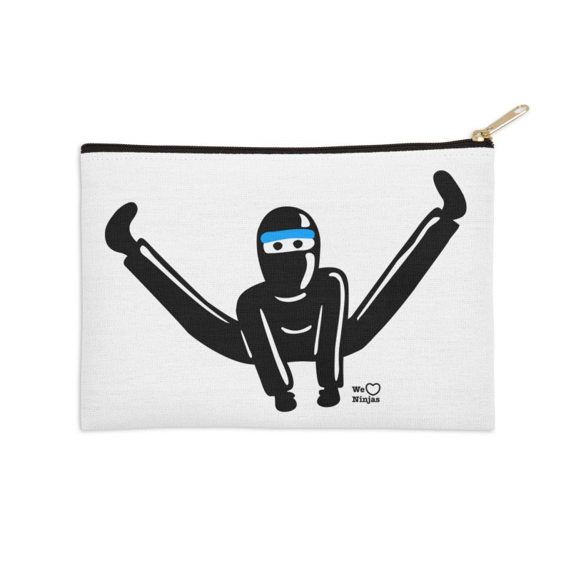 Ninja split kick! Accessories Zip Pouch by Weheartninjas's Artist Shop