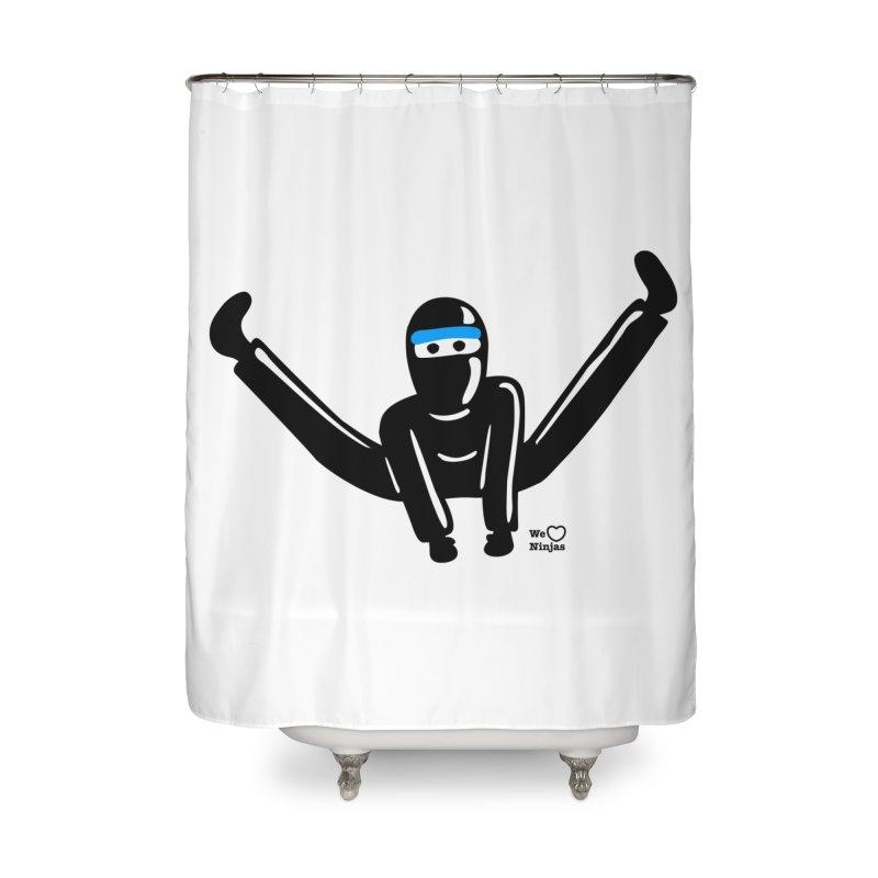 Ninja split kick! Home Shower Curtain by Weheartninjas's Artist Shop