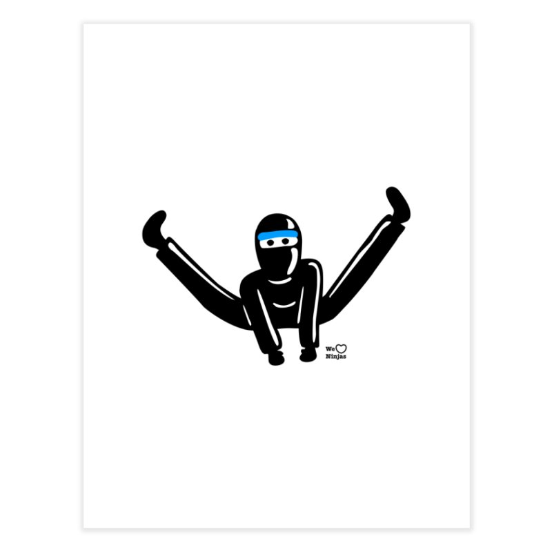 Ninja split kick! Home Fine Art Print by Weheartninjas's Artist Shop