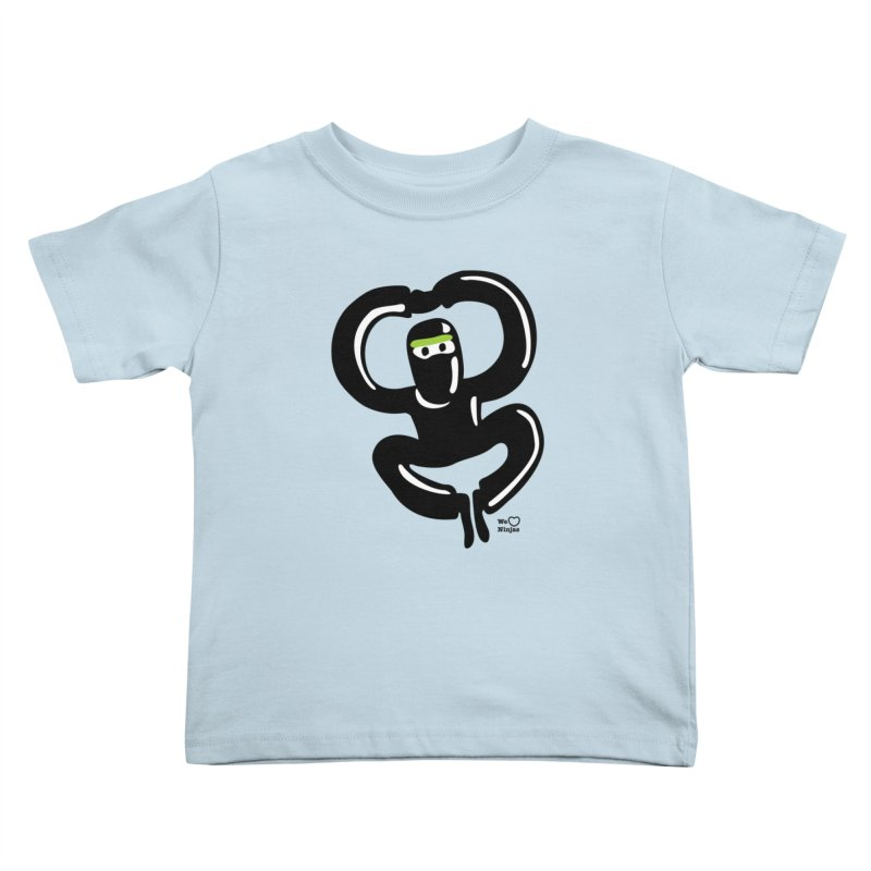 Happy Ninja Kids Toddler T-Shirt by Weheartninjas's Artist Shop