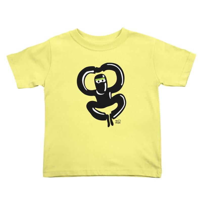 Happy Ninja Kids Toddler T-Shirt by Weheartninjas's Artist Shop