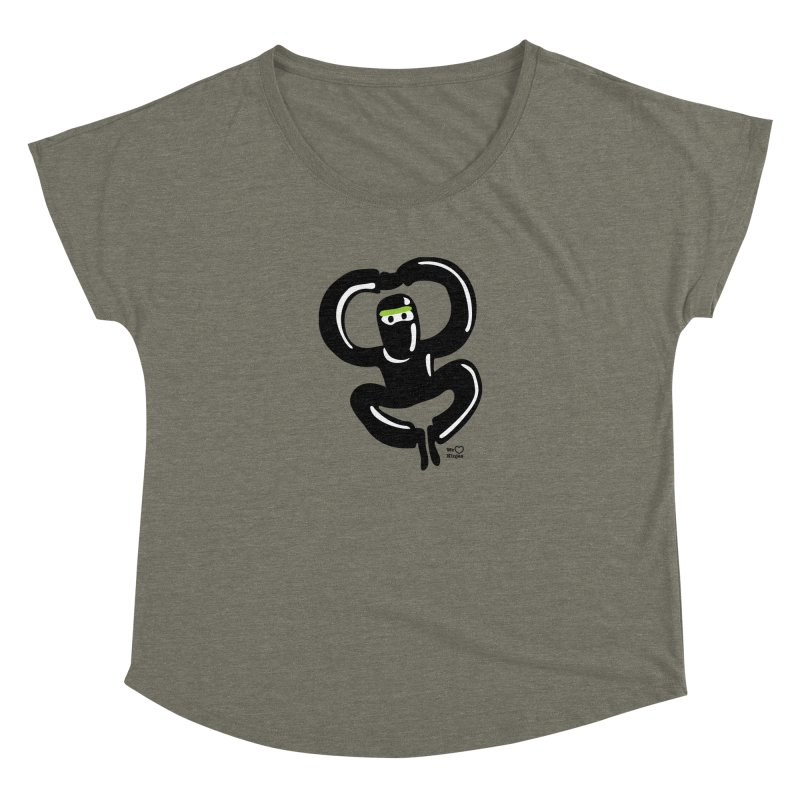 Happy Ninja Women's Dolman Scoop Neck by Weheartninjas's Artist Shop
