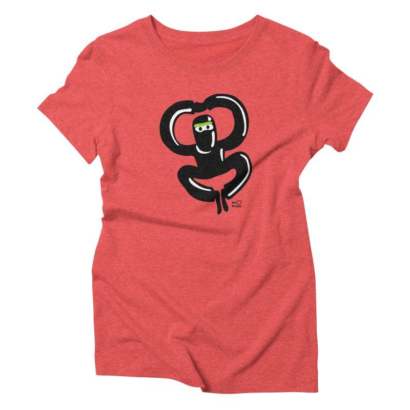 Happy Ninja Women's Triblend T-shirt by Weheartninjas's Artist Shop