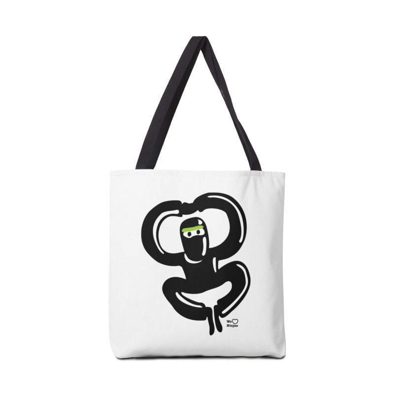 Happy Ninja Accessories Tote Bag Bag by Weheartninjas's Artist Shop
