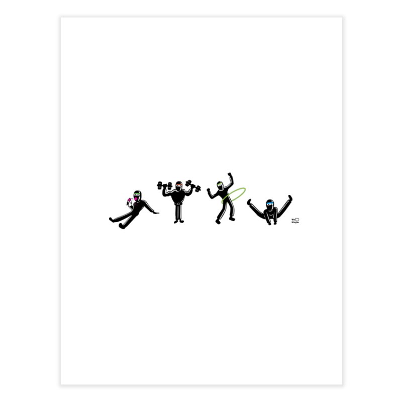 Ninjas getting physical! Home Fine Art Print by Weheartninjas's Artist Shop