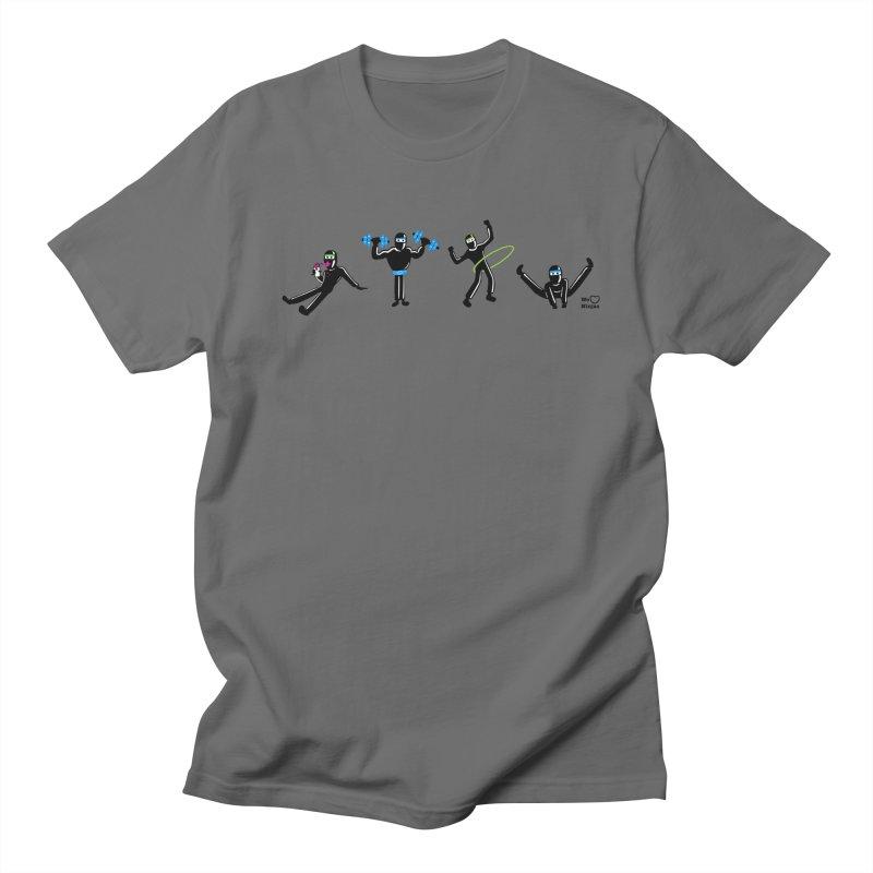 Ninjas getting physical! Men's T-Shirt by Weheartninjas's Artist Shop