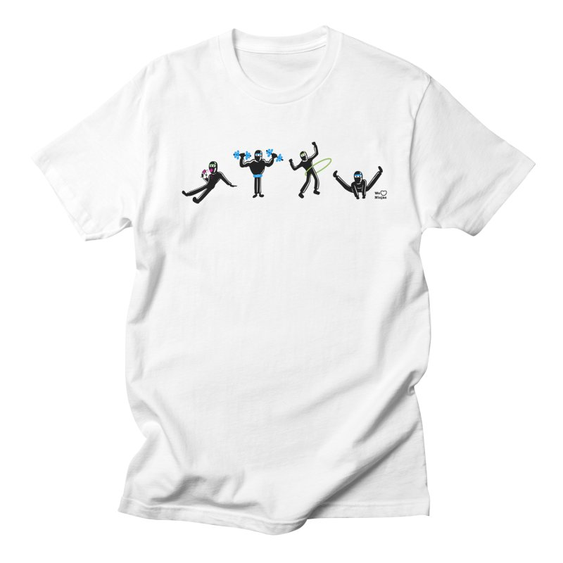 Ninjas getting physical! Men's Regular T-Shirt by Weheartninjas's Artist Shop