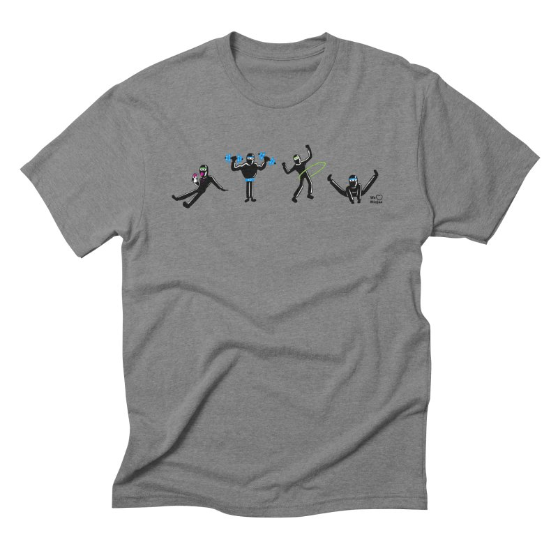 Ninjas getting physical! Men's Triblend T-Shirt by Weheartninjas's Artist Shop